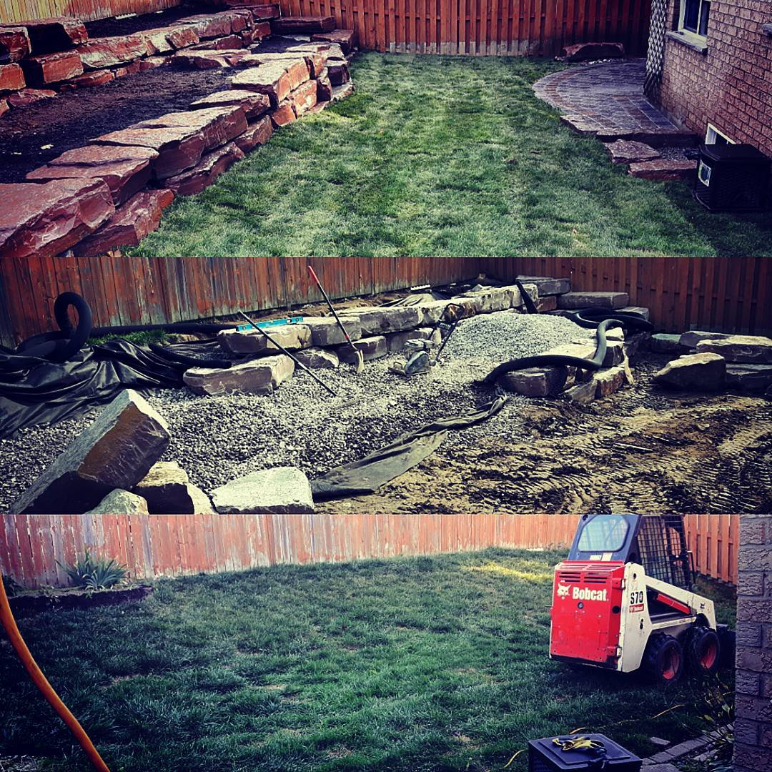 Armour stone Retaining Wall - Before/After