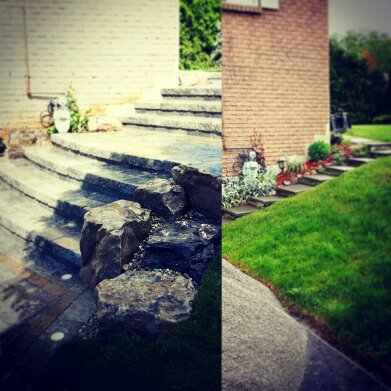 Beautiful Custom Entryway - Before/After Landscape